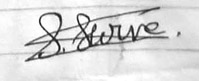 Signature of a girl who committed suicide